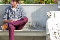 Potsdam, Sanssouci, exhausted boy ;-)