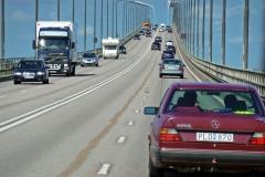 Fahrt über die Brücke von Öland nach Kalmar