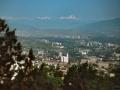 Georgien 1989, Tiflis, Blick vom Erholungspark zum Kaukasus